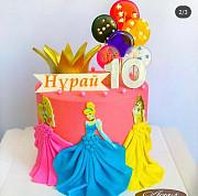 Торт с Золотой короной для девочек доставка из г.Кульсары